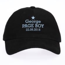 Personalised Embroidered Page Boy Cap