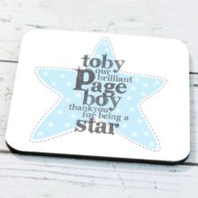 Personalised Page Boy Coaster
