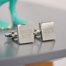 Personalised Silver Plated Page Boy Cufflinks