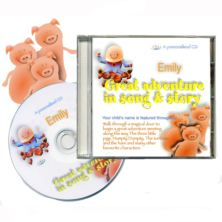 Personalised 'Great Adventure' Childrens CD