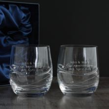 Pair of Personalised Swarovski Crystal and Diamante Whisky Glasses