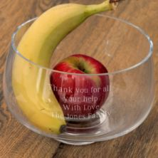 Personalised Glass Fruit Bowl