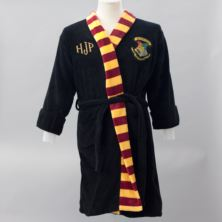 Personalised Embroidered Harry Potter Black Robe With Scarf