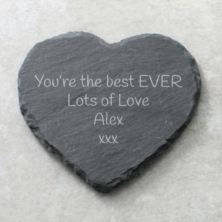 Personalised Heart Slate Coaster