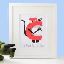 Personalised Monster Alphabet Framed Print