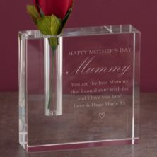 Personalised Mother's Day Optical Crystal Rectangle Bud Vase