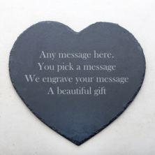 Personalised Heart Slate Placemat