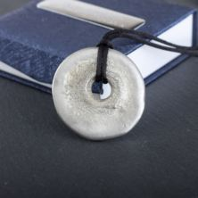 Personalised Moon Pewter Pendant by Award Winning Emily G