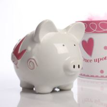 Personalised Princess Castle Piggy Bank