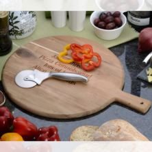 Personalised Pizza Board With Cutter