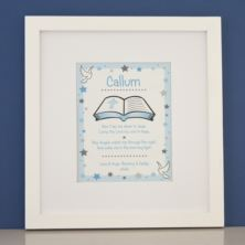 Personalised Prayer Boys Framed Print