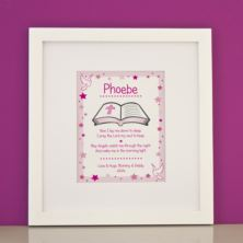 Personalised Prayer Girls Framed Print