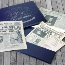 Pearl Anniversary Presentation Folder - Original Newspapers