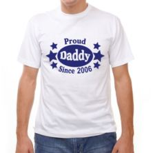 Proud Daddy Since... Personalised T-Shirt