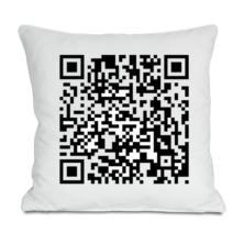 Personalised Barcode Code Cushion