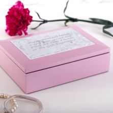 Personalised Pink Oxford Jewellery Box