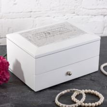 Personalised White Cambridge Jewellery Box