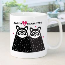 Personalised Racoon Couple Mug