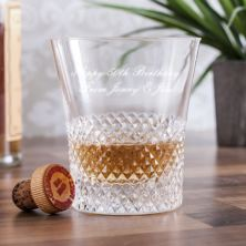 Personalised Royal Brierley Luxury Crystal Antibes Whisky Tumbler