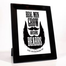 Personalised Real Men Grow Awesome Beards Framed Print