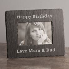 Personalised Rectangle Slate Photo Frame