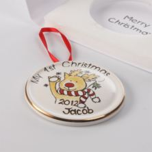 Personalised Rudolph Hanging Decoration in Presentation Card