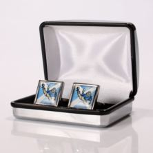 Personalised Scottish Flag & Rugby Player Cufflinks