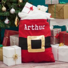 Personalised Santa Sack With Buckle