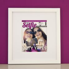 Personalised Selfie Photography Magazine Framed Print