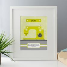 Personalised Sewing Machine Framed Print