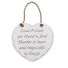 Shabby Chic Heart - Good Friend Plaque