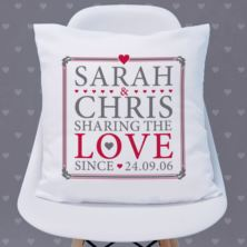 Personalised Sharing The Love Since Cushion