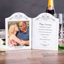 Silver Anniversary Photo Message Plaque