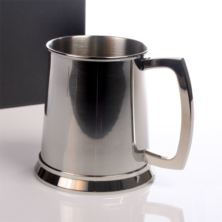 Engraved Stainless Steel Pint Tankard