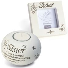 Sister Tealight And Photo Frame Gift Set