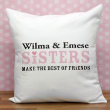 Personalised Sisters Cushion