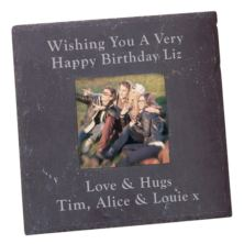 Personalised Slate Square Photo Frame