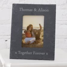 Personalised Slate Photo Frame 6 x 4
