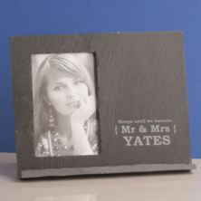 Sleeps Until We Marry -  Personalised Slate Message Frame