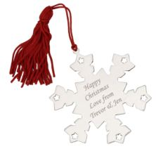 Engraved Snowflake Tree Decoration