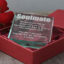 Personalised Soulmate Glass Keepsake