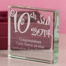 Personalised Special Date Glass Keepsake