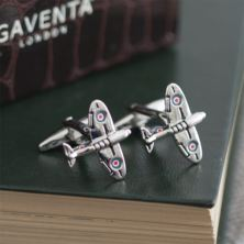 Spitfire Cufflinks in Personalised Gift Box