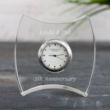 Personalised Dartington Squeeze Crystal Clock
