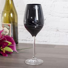 Personalised Dartington Noir Glitz Single Wine Glass