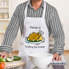 Personalised Stuffing The Turkey Apron