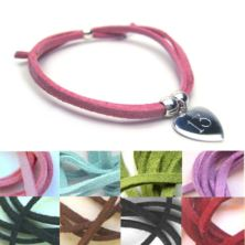Suede Engraved Bracelet - More Colours Available