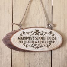 Personalised Grandma's Hanging Wooden Plaque