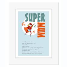 Personalised Super Mum Print