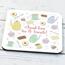 Personalised Tea And Biscuits Coaster